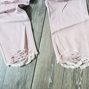 Blush distressed boyfriend fit ankle jeans 14